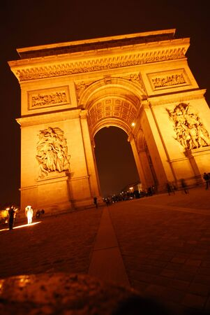 triumphal: The Triumphal Arch, Paris at night