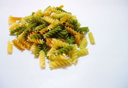 Colorful fusilli pasta background photo