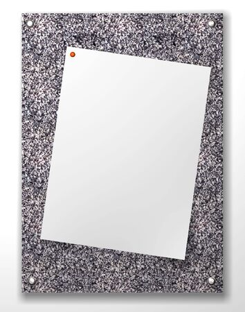 border frame and blank notepad and a paper clip with  background material photo