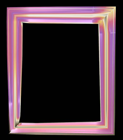 Picture Frame with mount - isolated photo
