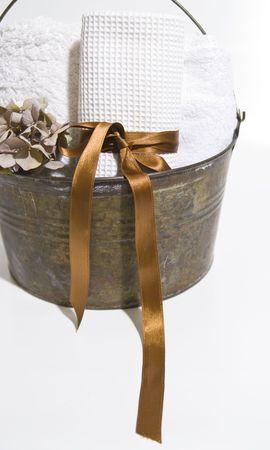 bucket water: Sauna accesorios cubo de agua y toallas