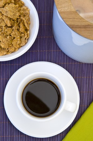 Close-up of a table and wonderful cup of hot coffee Stock Photo - 3955999