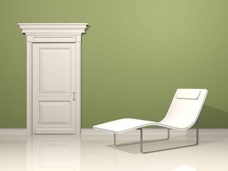 deckchair, interior design with minimal elements Stock Photo - 4715927