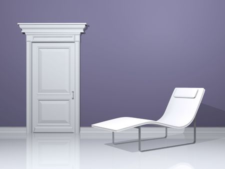 deckchair, interior design with minimal elements Stock Photo - 4715924