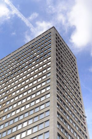 Facade of modern business buildings in Brussels - Belgium photo