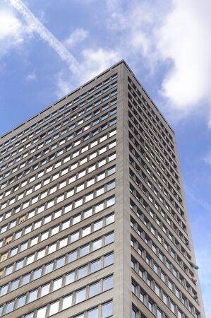 Facade of modern business buildings in Brussels - Belgium Stock Photo