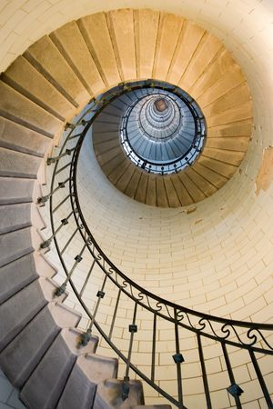 Eckmul lighthouse staircase, france brittany photo