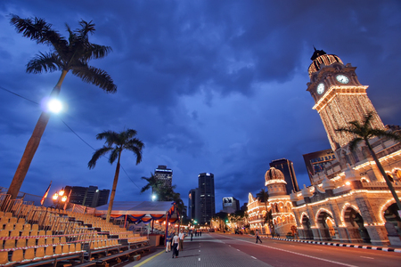very wide angle picture of the Kuala Lumpur courthouse, Malaysia