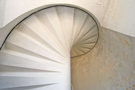 Cordouan kings lighthouse white spiral stairs, Gironde, France photo