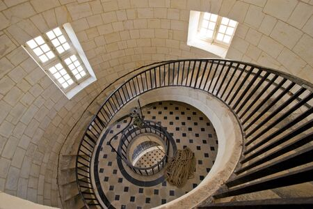 Cordouan kings lighthouse luxurious stairway, Gironde, France photo