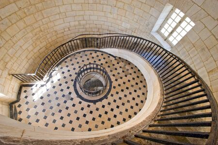 Cordouan king's lighthouse luxurious stairway, Gironde, France Stock Photo - 1674951