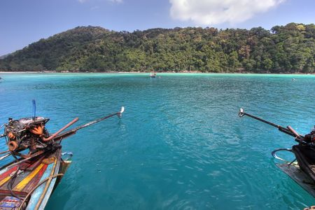 two longtails boat on the andaman sea, ko surin island, thailand Stock Photo - 1905931