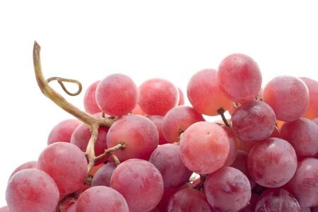 red grape detail isolated on white background Stock Photo
