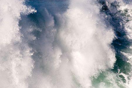 heave: closeup of crashing big wave in ocean