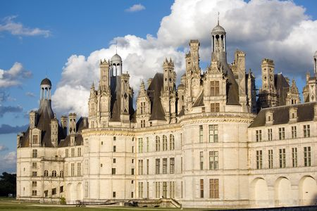 chambord: chambord  king french castle in loire valley