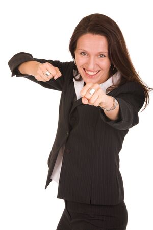 pretty businesswoman is ready to fight  Stock Photo - 3572079