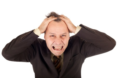 crying businessman, failure after very bad news Stock Photo - 4004301