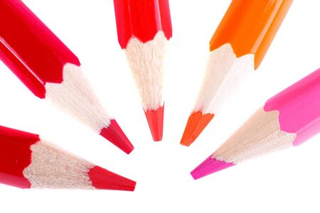 color pencil macro shot isolated on white Stock Photo - 4181371