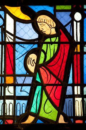 catholic stained glass: vivid catholic stained glass window