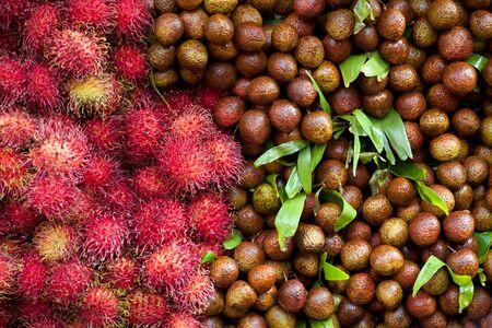 lychees and rambutans in asian market place at kuala lumpur Stock Photo - 7503343