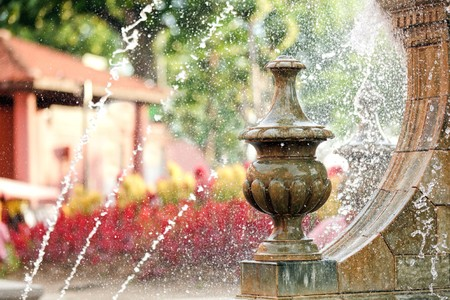 melacca: high shutter speed picture of melaka city fountain, malaysia Stock Photo