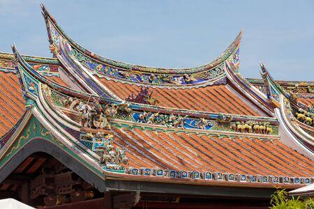 hoon: Cheng Hoon Teng buddhism temple roof, Melaka, Malaysia Stock Photo
