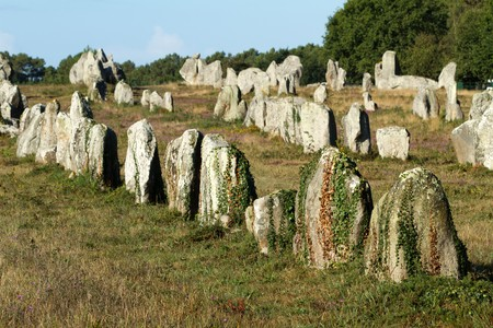 Carnac megaliths alignment in Brittany, France Stock Photo - 7812708