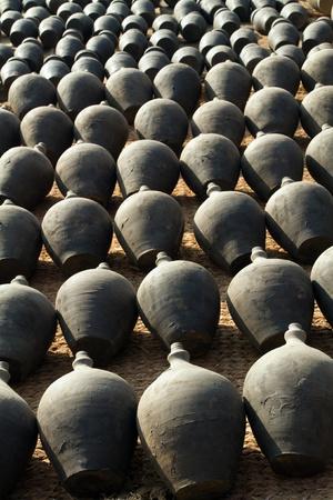 pot money: clay pottery row in bhaktapur, nepal