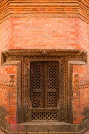 Hindu temple entrance at Bhaktapur, nepal photo