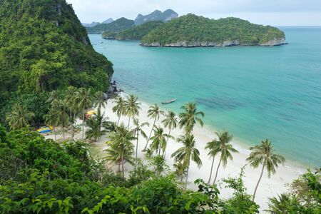 tropical island beach scenery, angthong marine park, thailand photo
