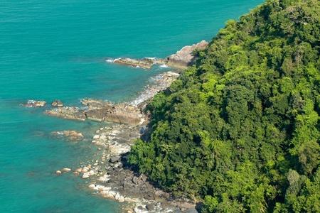 aerial view of tropical island rocky coastline, angthong marine park, thailand Stock Photo - 9668160