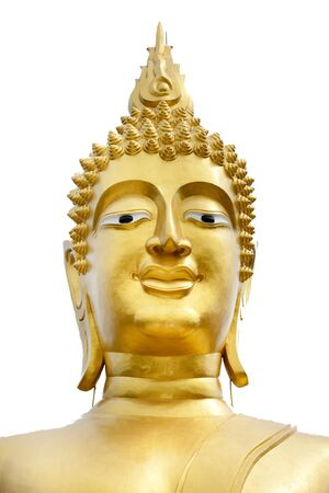 big buddha golden head, Phra Yai temple, pattaya, thailand photo