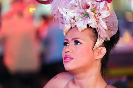 transexual: Retrato de bailarina Thai ladyboy transexual, pattaya, Tailandia