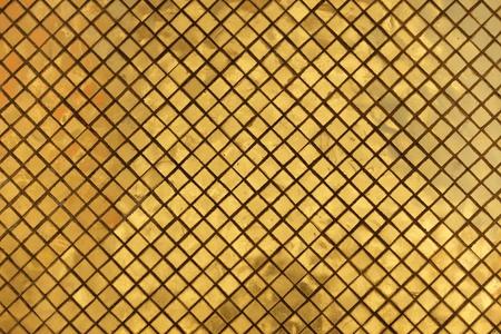 mosaic tile: religious golden tiled metallic background Stock Photo