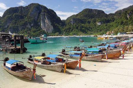 ton: Ton sai bay in ko phi phi island, Thailand Stock Photo