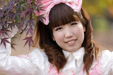 japanese girl in lolita cosplay fashion photo