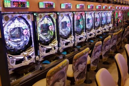 pinball: pachinko game machines in Japan