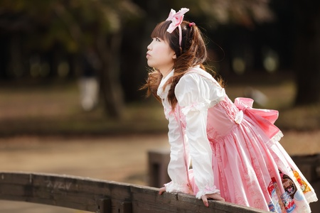 lolita: japanese girl in lolita cosplay style