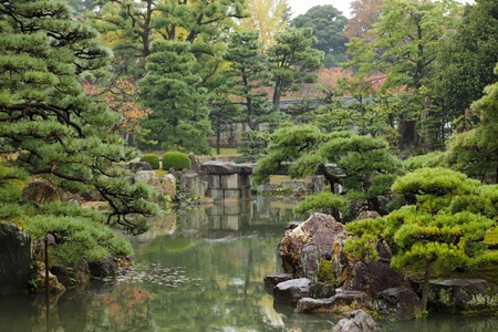traditional japanese zen garden in Kyoto, Japan photo