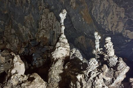 stalagmite: stalagmite in Phu Pha Phet cave, Satun, Thailand
