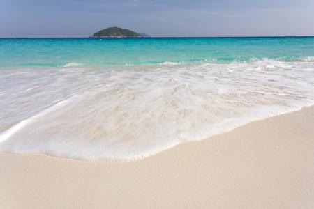 similan islands: white sand tropical beach seascape, ko similan island, Thailand Stock Photo