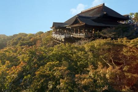 Kiyomizu Dera boeddhistische tempel in Kyoto, Japan Stockfoto