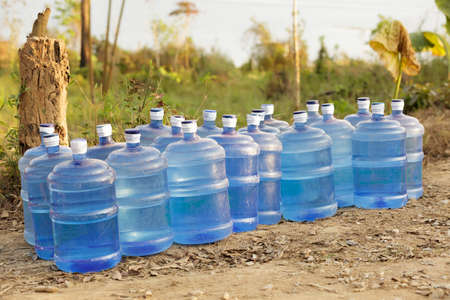 shortage: fresh water supplies in tropical dry country Stock Photo