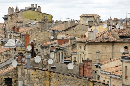 Bordeaux old city  rooftop architecture, France photo