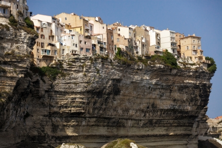 mediterranean Bonifacio city on cliff in Corsica island, France Stock Photo - 15499084