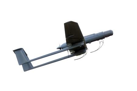 leger UAV moderne vliegtuig geïsoleerd op witte achtergrond Stockfoto