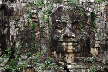 Angkor Thom east gate huge face sculpture, Cambodia photo