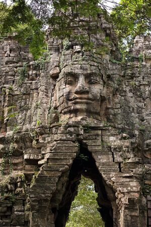 Angkor Thom antique city west gate, Cambodia photo