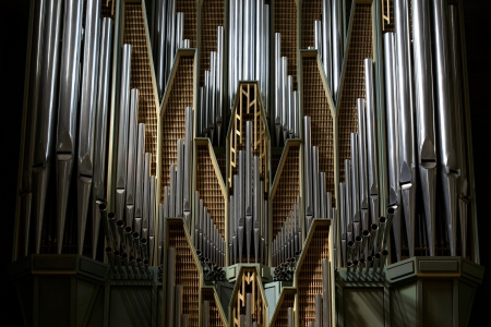 Detail of traditional church organ