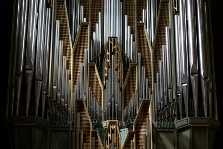 Detail of traditional church organ